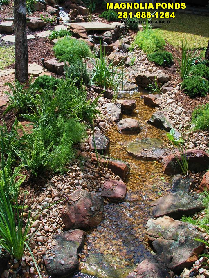 Backyard Ponds And Streams : max@magnoliapondscom 2816861264